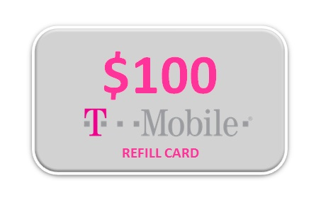 T-Mobile 100 Refill Card