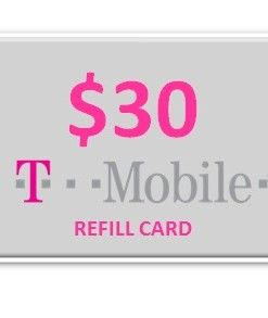 T-Mobile 30 Refill Card