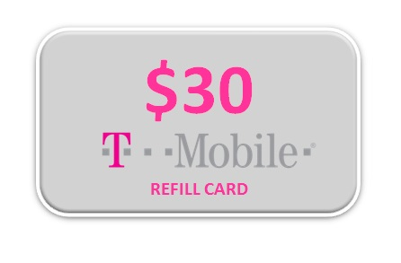 T mobile 30 refill card for T mobile refill