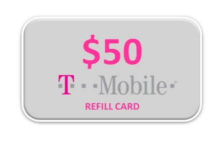 T-Mobile 50 Refill Card